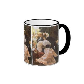 Politische Dame durch James Tissot, Vintages Ringer Tasse