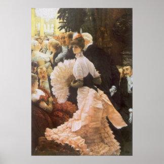 Politische Dame durch James Tissot, Vintages vikto Posterdruck