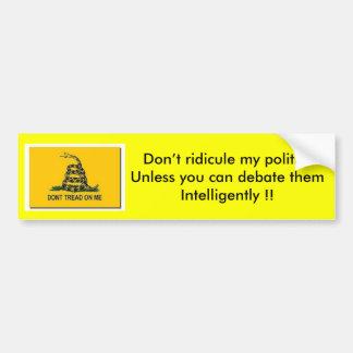 Politische Debatte Autoaufkleber