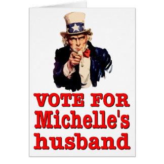 Politische Entwurf Obama Abstimmung für Michelle E Mitteilungskarte