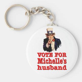 Politische Entwurf Obama Abstimmung für Michelle Standard Runder Schlüsselanhänger