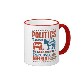 Politische Erwartungen Ringer Tasse