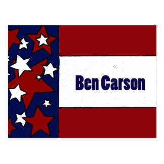 Politische Flaggen-Kunst Spaß-Bens Carson Postkarte