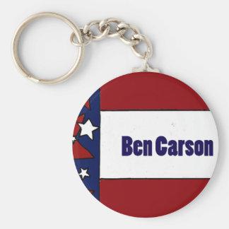 Politische Flaggen-Kunst Spaß-Bens Carson Standard Runder Schlüsselanhänger