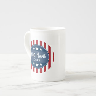 Politische Kampagne - patriotisches US Flagge Prozellantasse