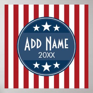 Politische Kampagne - patriotisches US Flagge Poster