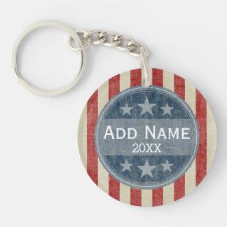 Politische Kampagne - Vintages US Flagge Schlüsselanhängern