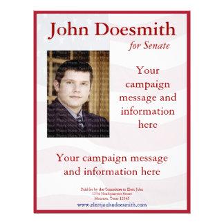 Politische Kampagnen-Flyer-Schablone Flyer