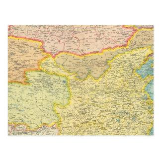 Politische Karte der China Postkarten