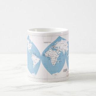 Politische Karte der Welt (1983) Kaffeetasse