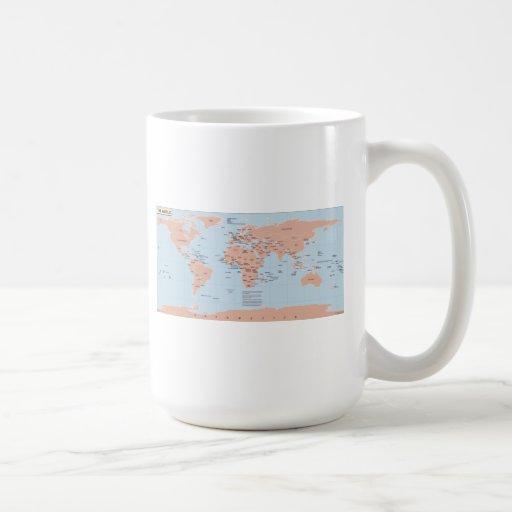 Politische Karte der Welt Kaffeetasse