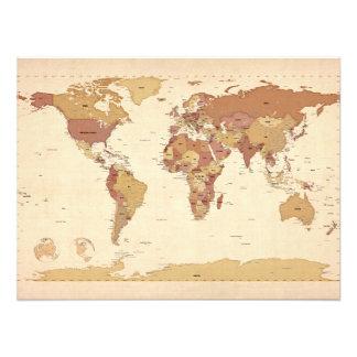 Politische Karte der Weltkarte Photos