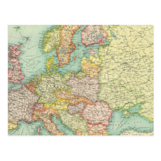 Politische Karte Europas Postkarten