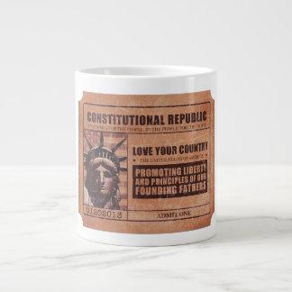 Politische Karte Extragroße Tasse