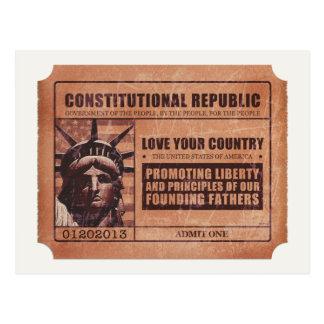 Politische Karte Postkarte