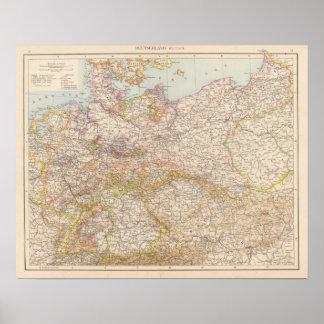 Politische Karte von Deutschland Plakatdrucke