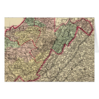 Politische Karte von West Virginia