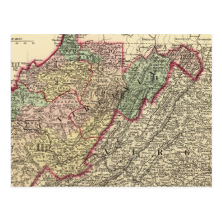 Politische Karte von West Virginia Postkarten