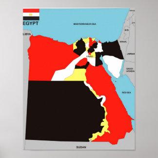 Politische Kartenflagge Ägypten-Landes Plakatdrucke
