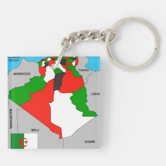 politische Kartenflagge Algerien-Landes Schlüssel Anhänger