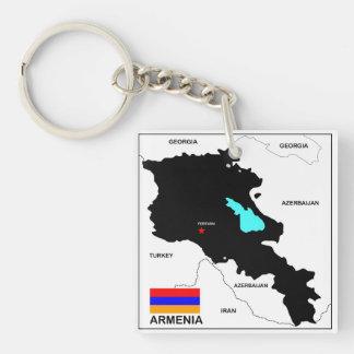 politische Kartenflagge Armenien-Landes Schlüsselring