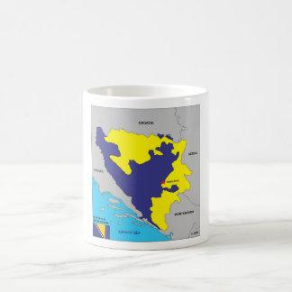 Politische Kartenflagge Bosnien-Herzegowinalandes Tasse