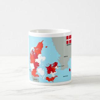 politische Kartenflagge Dänemark-Landes Kaffeehaferl