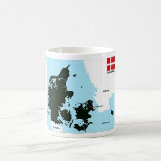 politische Kartenflagge Dänemark-Landes Tee Tasse