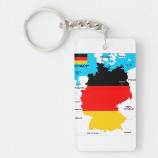 politische Kartenflagge Deutschland-Landes Einseitiger Rechteckiger Acryl Schlüsselanhänger