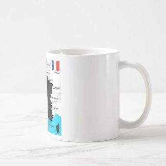 politische Kartenflagge Frankreich-Landes Kaffeetasse