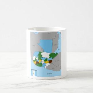 politische Kartenflagge Guatemala-Landes Kaffeetasse