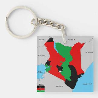 politische Kartenflagge Kenia-Landes Schlüsselring