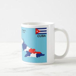 Politische Kartenflagge Kuba-Landes Teetasse