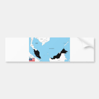 politische Kartenflagge Malaysia-Landes Auto Aufkleber