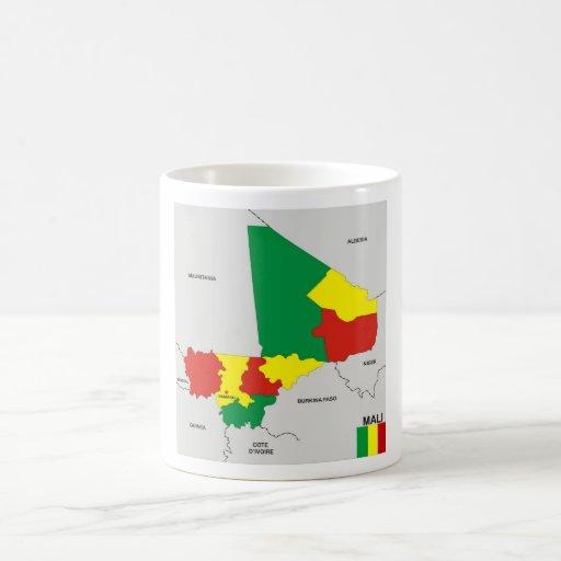 politische Kartenflagge Mali-Landes Haferl