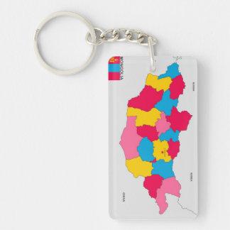 politische Kartenflagge Mongolei-Landes Schlüsselring