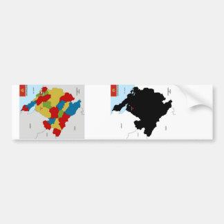 politische Kartenflagge Montenegro-Landes Autosticker