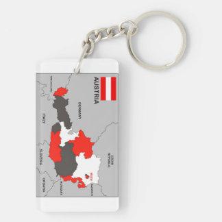politische Kartenflagge Österreich-Landes Schlüsselanhängern