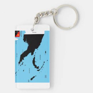 Politische Kartenflagge Papua-Neu-Guinea Landes Schlüsselanhänger