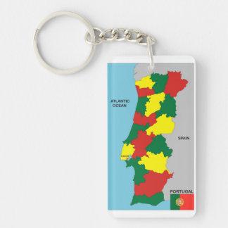 politische Kartenflagge Portugal-Landes Schlüsselanhängern