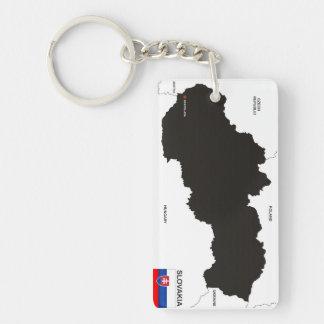 politische Kartenflagge Slowakei-Landes Schlüssel Anhänger