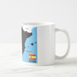 politische Kartenflagge Spanien-Landes Teetassen