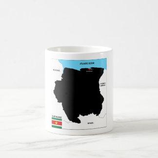 politische Kartenflagge Surinam-Landes Kaffeetasse