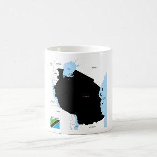 Politische Kartenflagge Tansania-Landes Kaffee Tasse