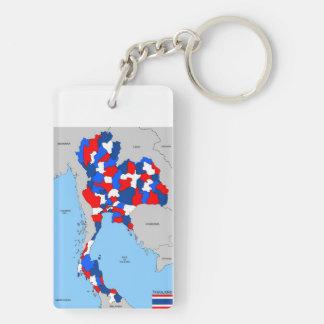 politische Kartenflagge Thailand-Landes Schlüsselanhänger
