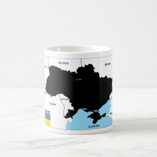 politische Kartenflagge Ukraine-Landes Tasse