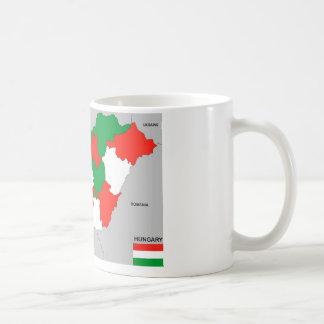 politische Kartenflagge Ungarn-Landes Kaffeetasse