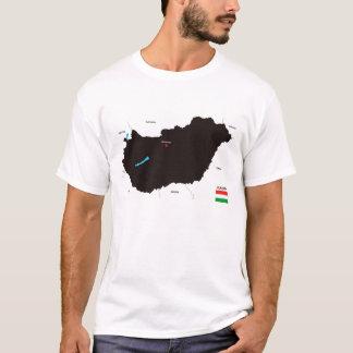 politische Kartenflagge Ungarn-Landes T-Shirt