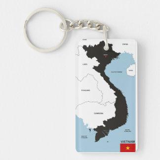 politische Kartenflagge Vietnam-Landes Schlüsselring