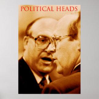 politische Köpfe Plakatdruck